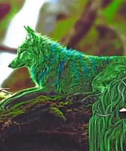 Green Fox paint by numbers