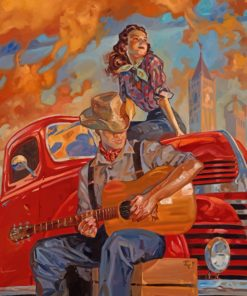 Guitarist And Lady paint by number