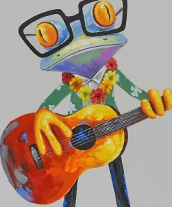 Guitarist Frog paint by numbers