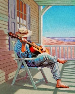 Guitarist Man Paint by numbers