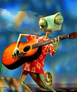 Guitarist Rango Paint by numbers