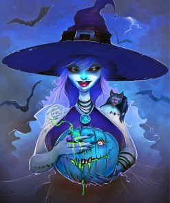 Halloween Witch Paint by numbers