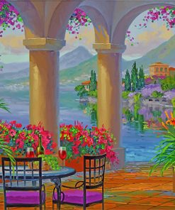 House Garden Lake Como paint by numbers