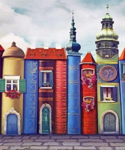Houses Book paint by numbers