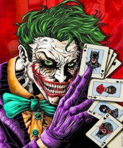 Joker Comic Paint by numbers
