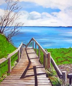 Lake Boardwalk Paint by numbers