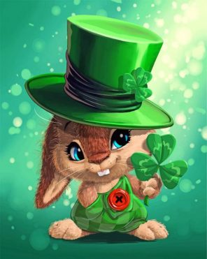 Leprechaun Rabbit Paint by numbers