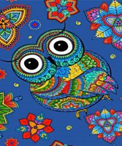 Mandala Owl Art Paint by numbers
