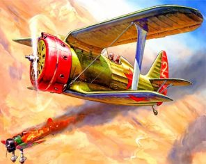 Military Airplane Paint by numbers
