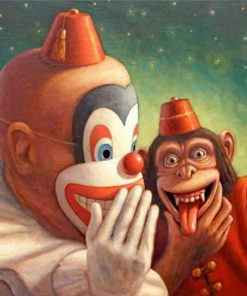 Monkey And Clown Paint by numbers