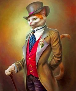 mr cat paint by numbers