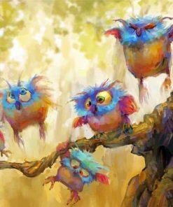 Owls Art Paint by numbers