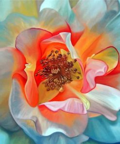 Peony Flower Art paint by numbers