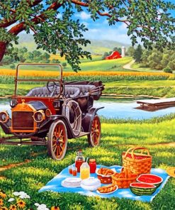 Picnic Time Paint by numbers
