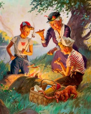 Picnic With Grandma Paint by numbers
