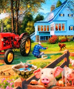 Pigs In Farm Paint by numbers