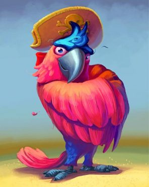 Pirate Macaw Paint by numbers