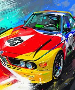 Race Car Art paint by numbers