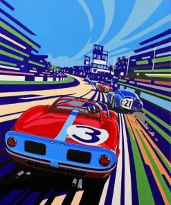 Race Car Illustration Paint by numbers