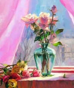 Roses Glass Paint by numbers
