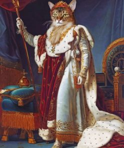 Royal Cat paint by numbers