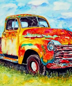 Rusty Old Truck Paint by numbers