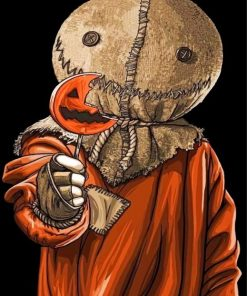 Sam Trick R Treat Halloween Paint by numbers