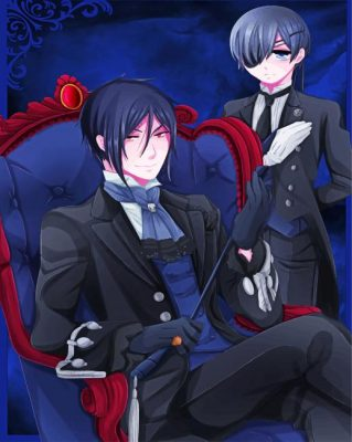 Sebastian And Ciel Paint by numbers
