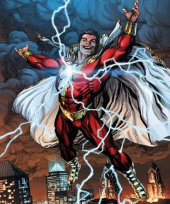 Shazam Superhero paint by numbers