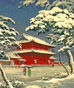 Snow In Japan Paint by numbers