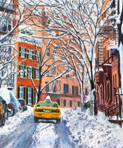 Snow New York City Paint by numbers
