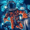 Space Astronaut Paint by numbers