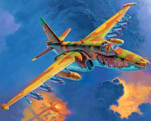 Sukhoi Su 25 Aircraft paint by numbers