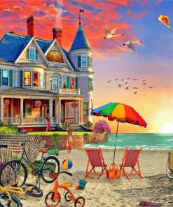 Summer Beach House Paint by numbers