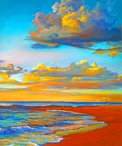Sunset Beachside Paint by numbers
