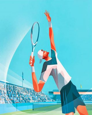Tennis Player Paint by numbers