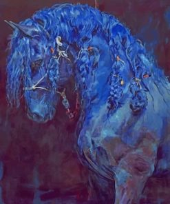 The Blue Horse paint by number