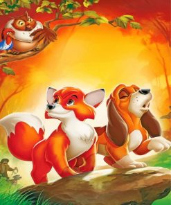 The Fox And The Hound Paint by numbers