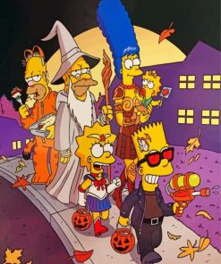 The Simpsons Halloween Paint by numbers