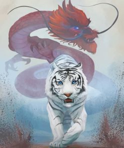 Tiger And Dragon paint by numbers