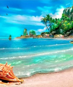 Tropical Beach Paint by numbers