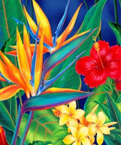 Tropical Paradise Plant Paint by numbers