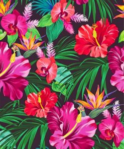 Tropical Plants And Flowers Paint by numbers