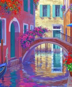 Venice Canal Bridge paint by numbers