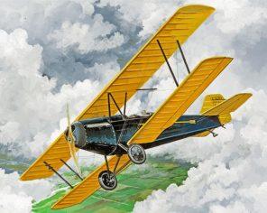 Vintage Airplane Paint by numbers