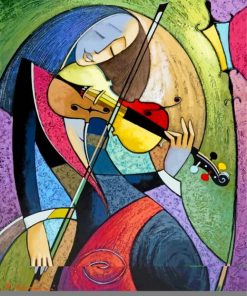 Violin Player Art Paint by numbers