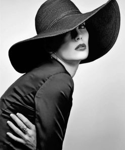 Woman In Classy Hat paint by number