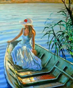 Woman On Boat paint by numbers
