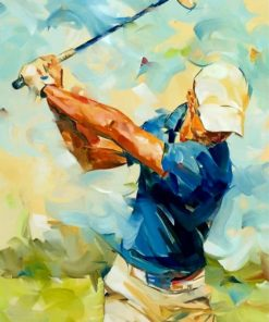 abstract-golf-player-paint-by-number