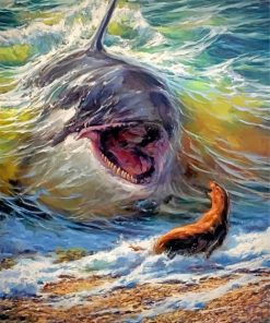 abtract-shark-and-seal-paint-by-numbers